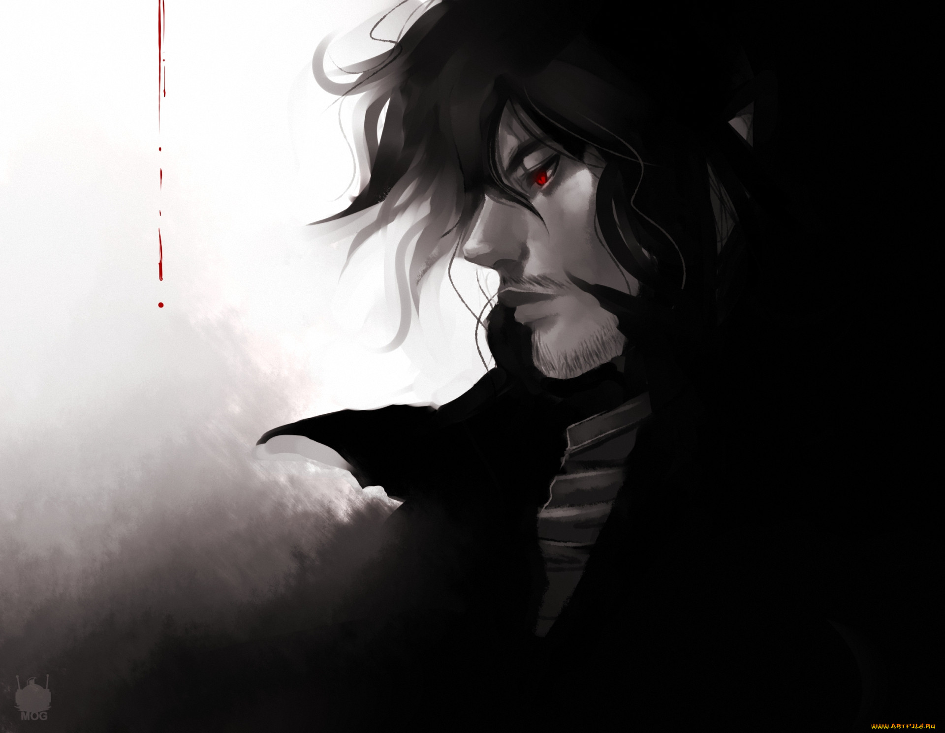 аниме, hellsing, вампир, alucard, dracula